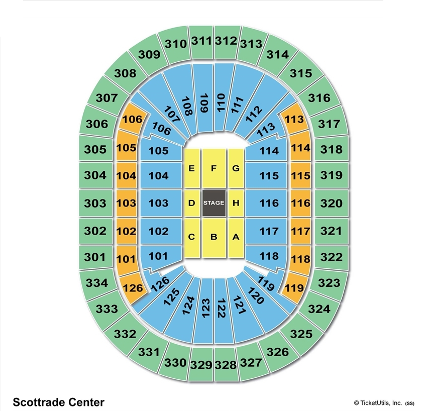 Scottrade Center Concert Seating Chart Center Stage