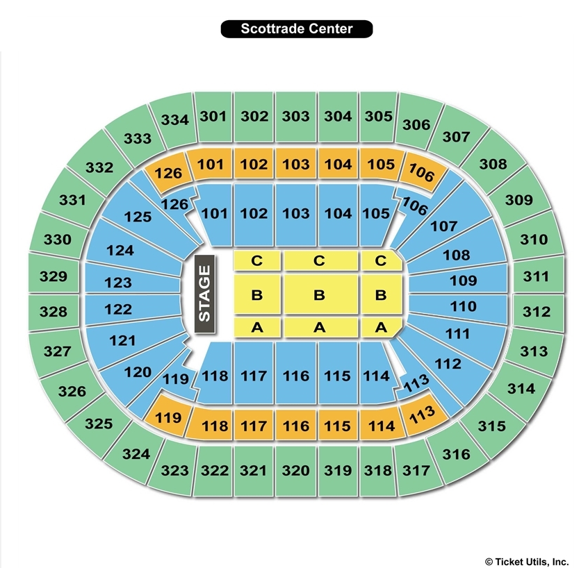 Scottrade Center End Stage Concert Seating Chart
