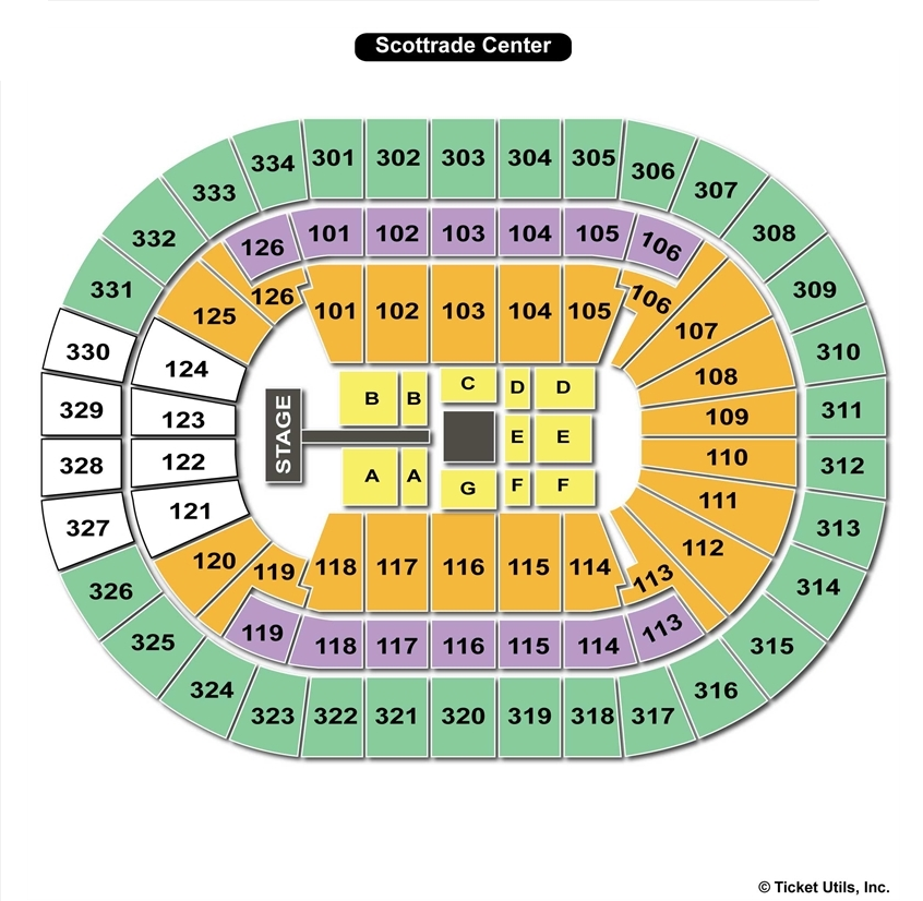 Scottrade Center St Louis Mo Seating Chart View