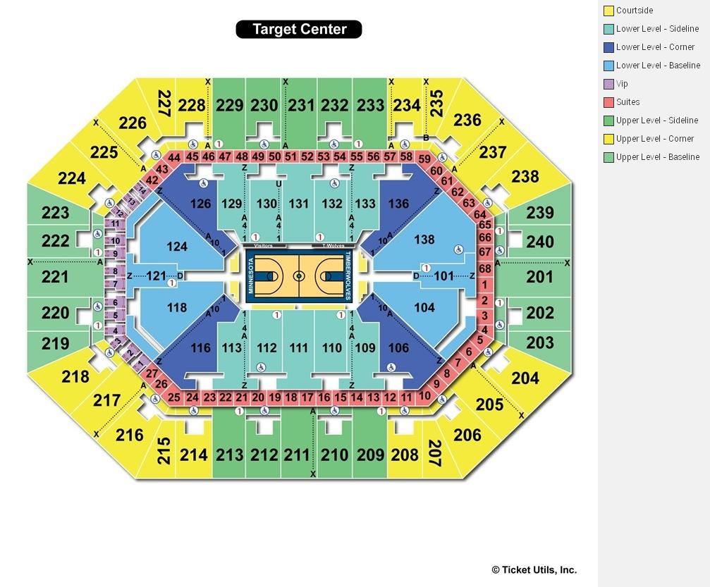 Target center minneapolis mn seating chart view