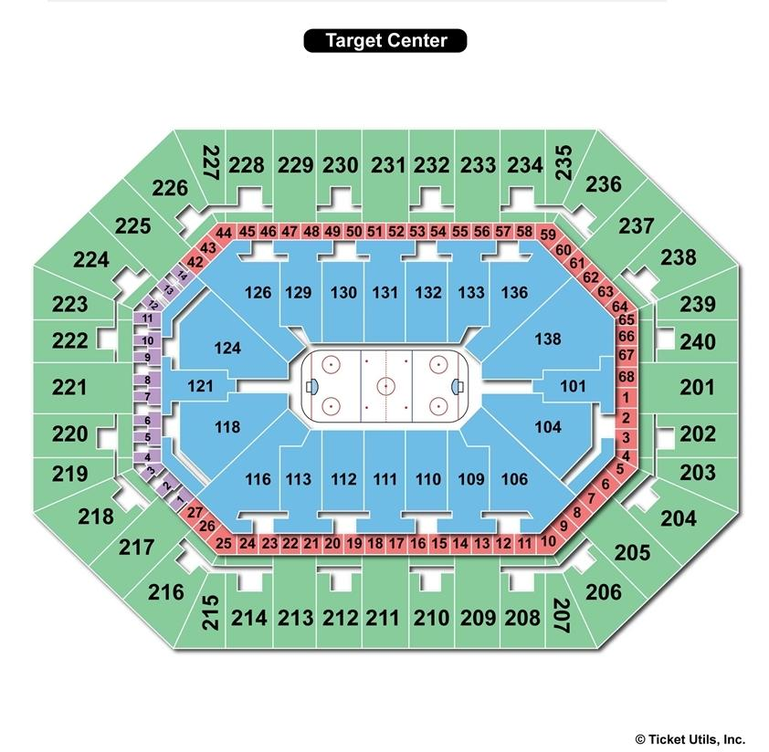 Target Center Hockey Seating Chart