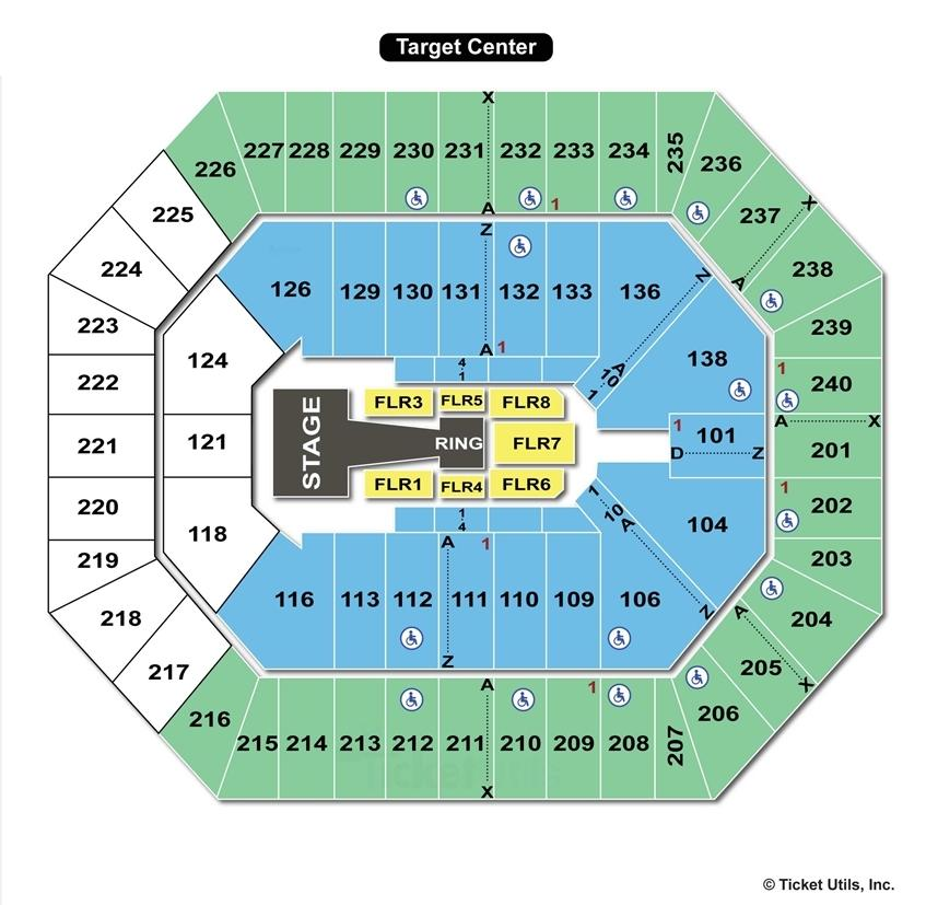 Target Center WWE Seating Chart