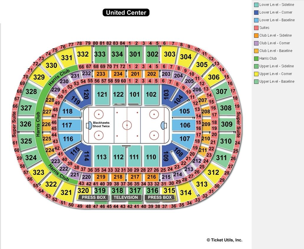 United Center Hockey Seating Chart