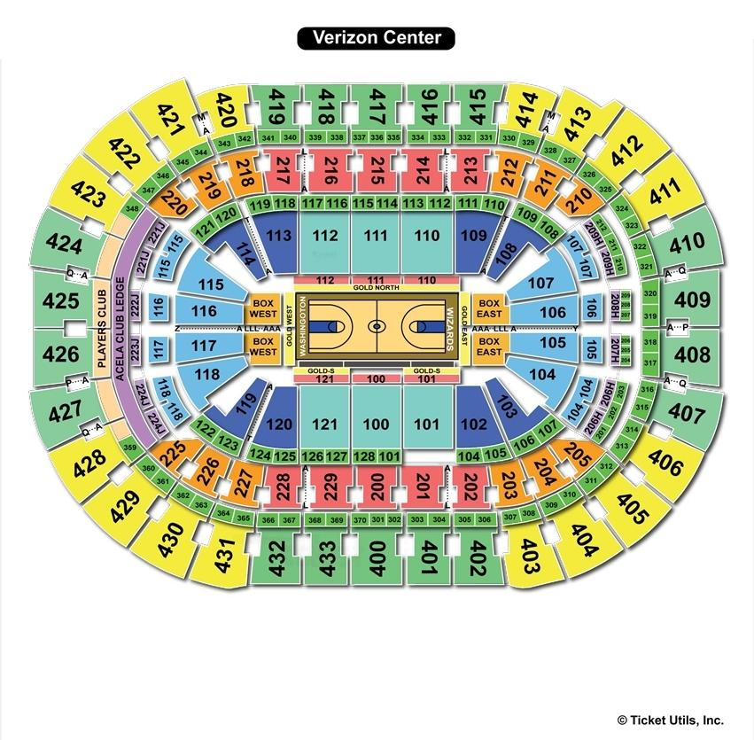 Verizon Center Basketball Seating Chart
