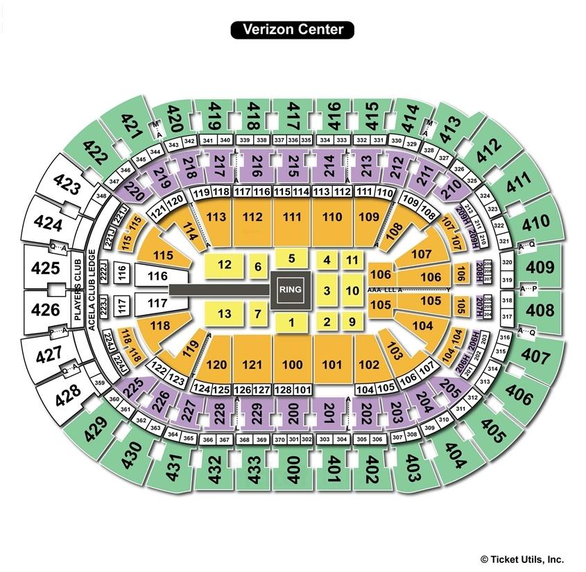 Verizon Center WWE Seating Chart