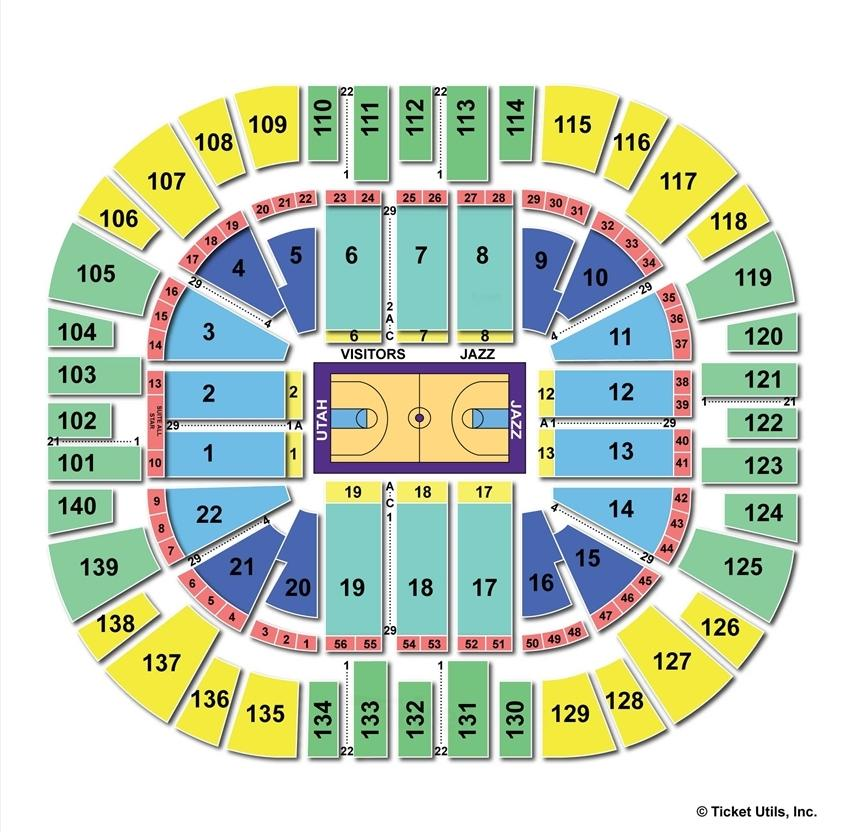 Vivint Smart Home Arena Basketball Seating Chart