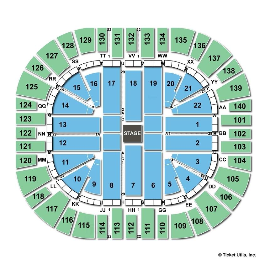 Vivint Smart Home Arena Center Stage Concert Seating Chart