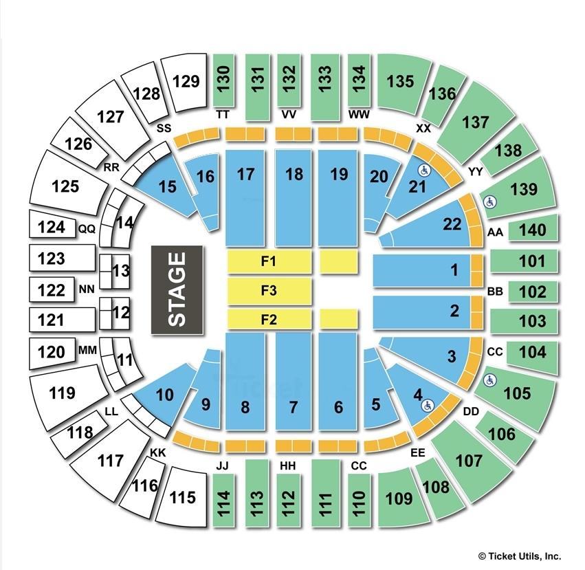Vivint Smart Home Arena End Stage Concert Seating Chart