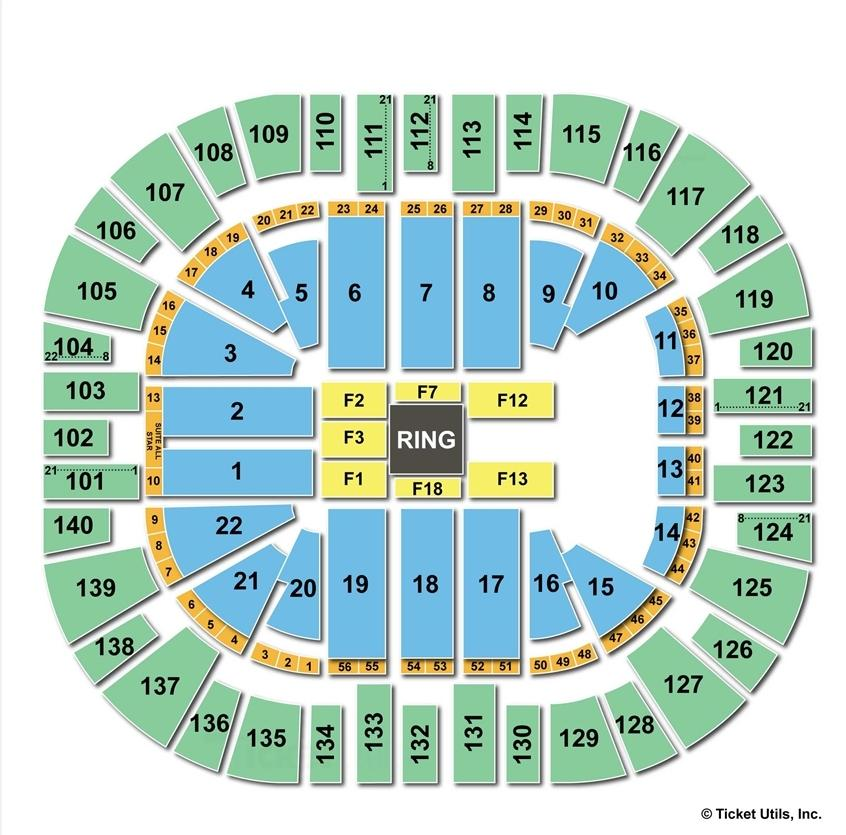 Vivint Smart Home Arena WWE Seating Chart