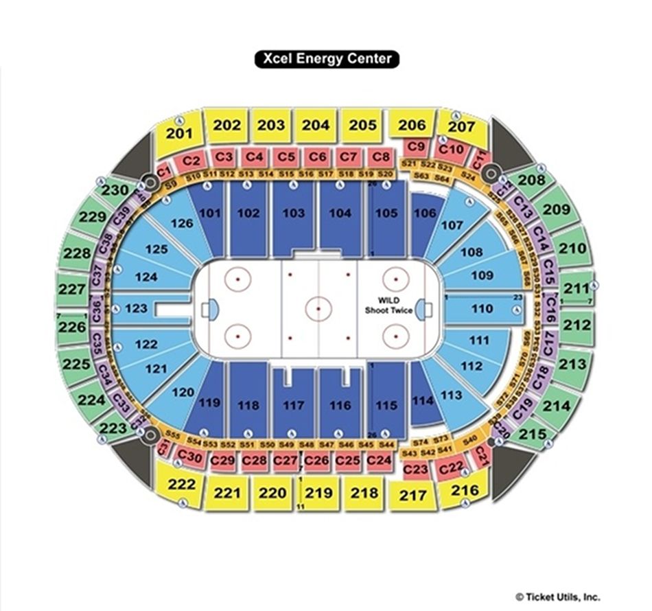 Xcel Energy Center Hockey Seating Chart