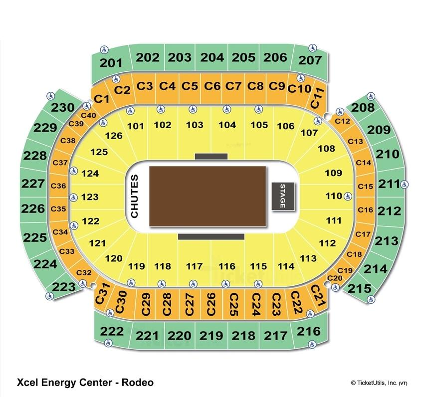 Xcel Energy Center Rodeo Seating Chart