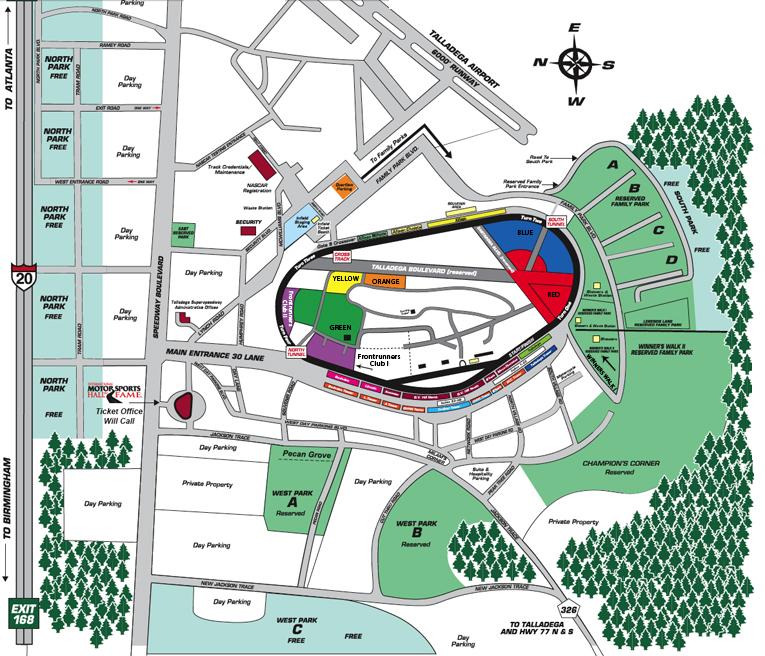 Talladega Superspeedway Talladega Al Seating Chart View