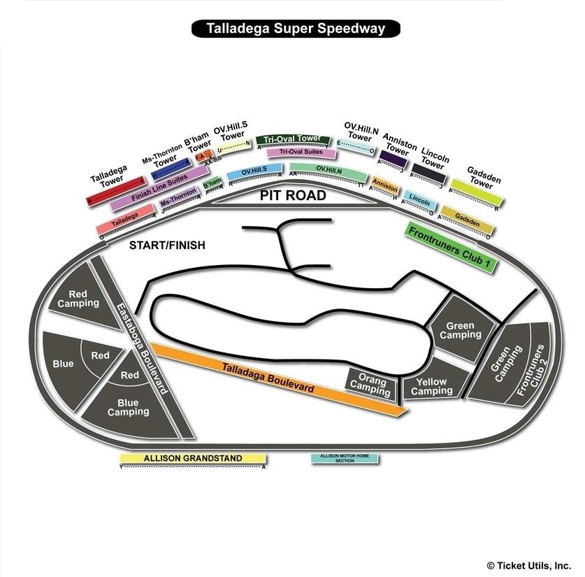 Talladega Speedway Facility Map