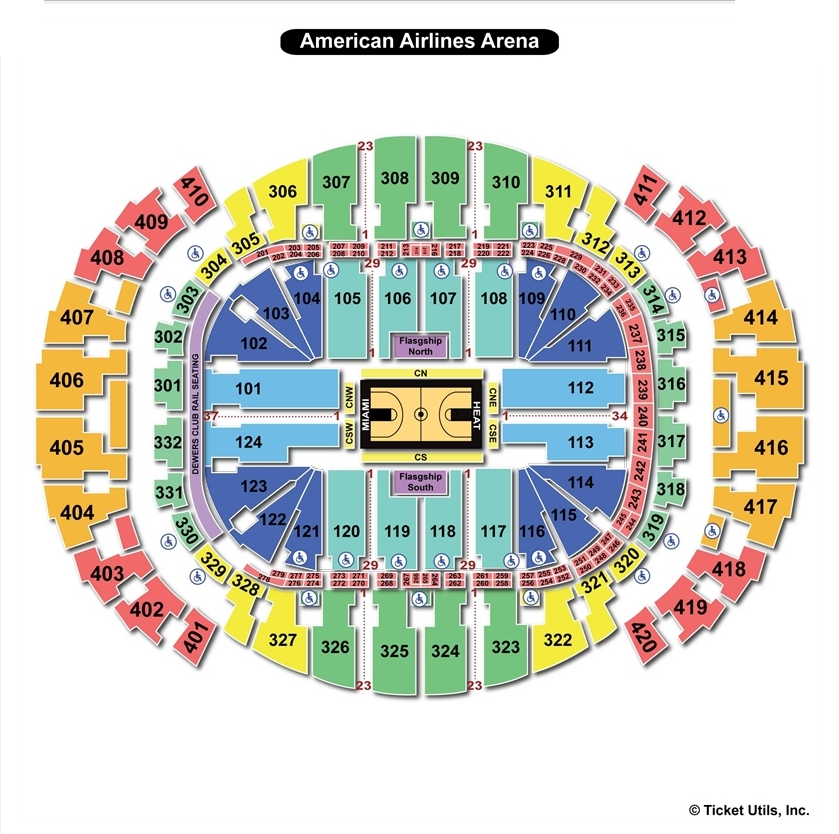Americanairlines Arena Miami Fl Seating Chart View