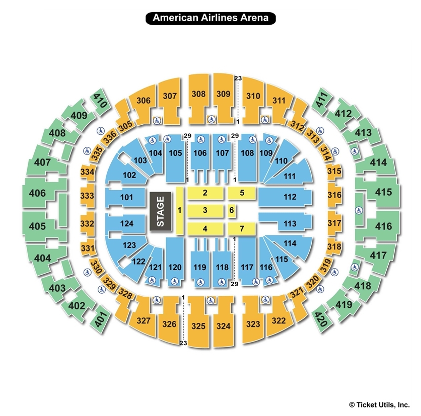 AmericanAirlines Arena, Miami Fl | Seating Chart View