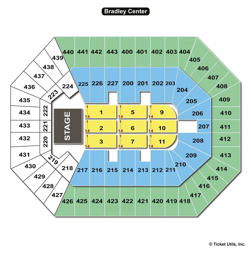 Bmo Harris Bradley Center End Stage Concert Seating Chart