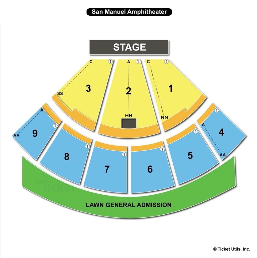Glen helen amphitheater san bernardino ca seating chart view