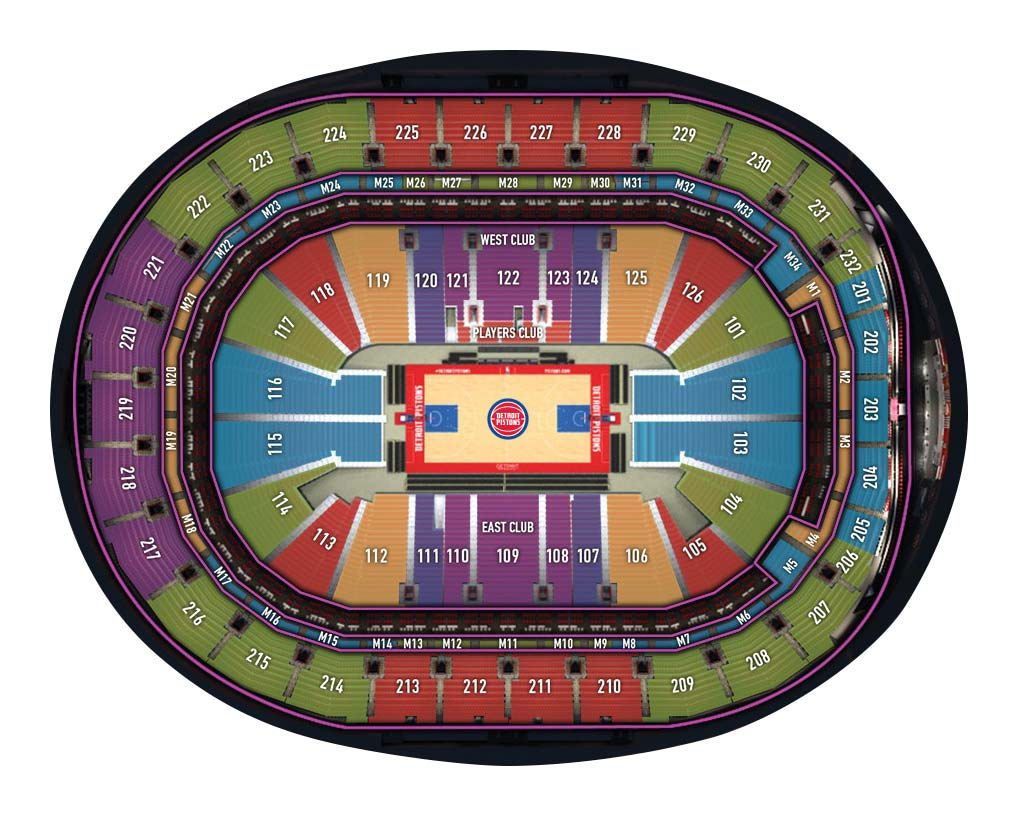 Little Caesars Arena Basketball Seating Chart