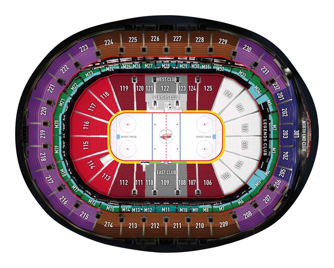 Little Caesars Arena, Detroit MI | Seating Chart View