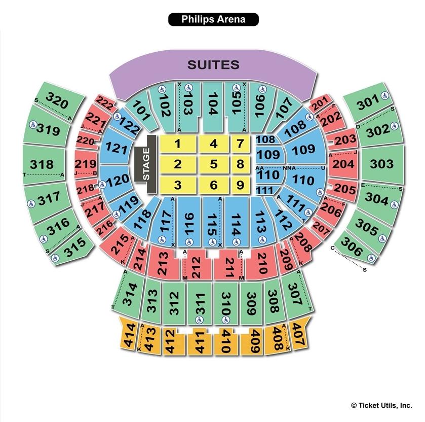 Philips Arena, Atlanta GA | Seating Chart View