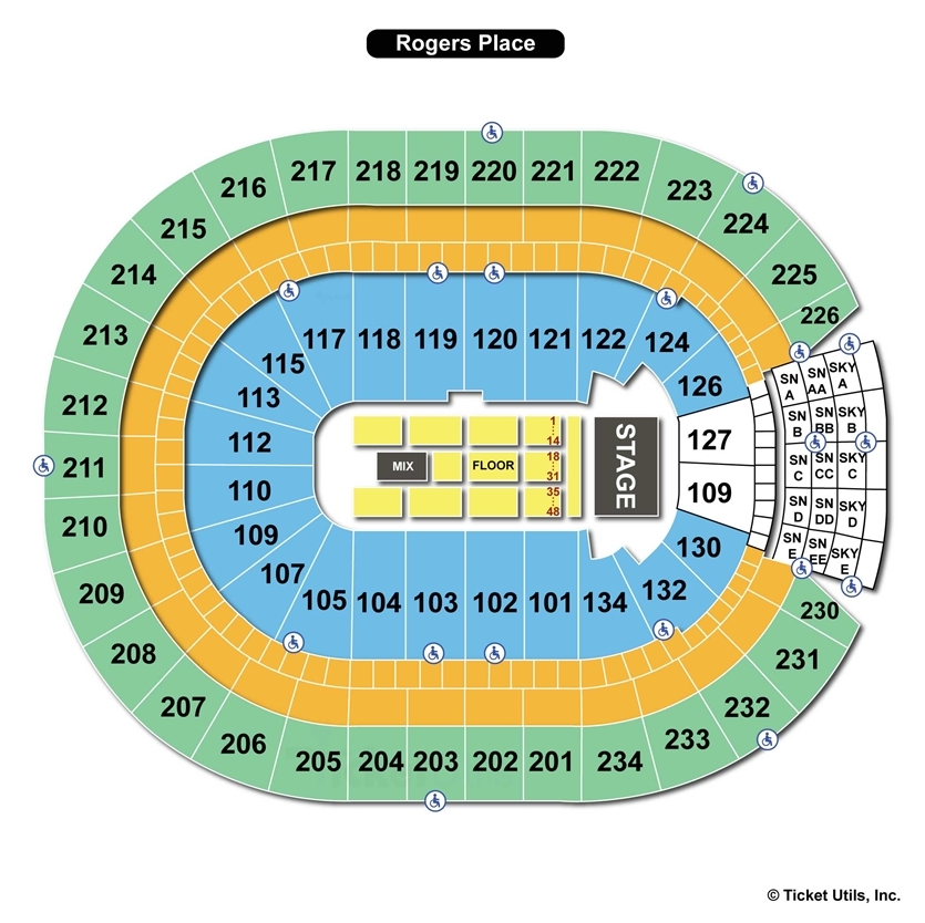 Rogers Place Edmonton Ab Seating Chart View