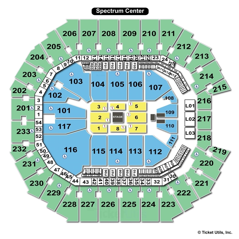 Spectrum Center Stage Concert Seating Chart