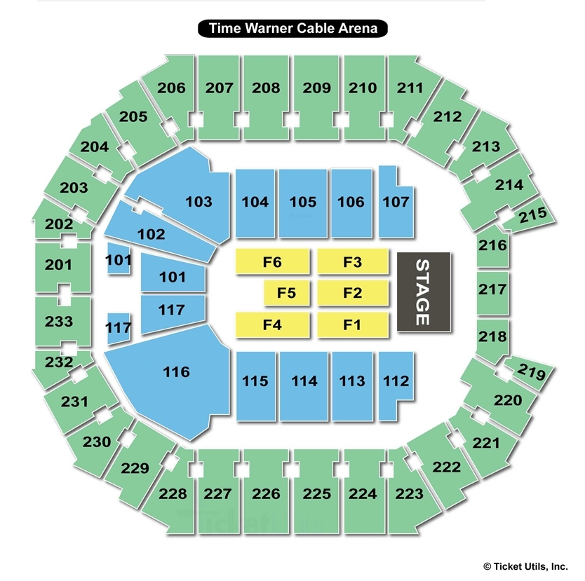 Spectrum Center End Stage Concert Seating Chart
