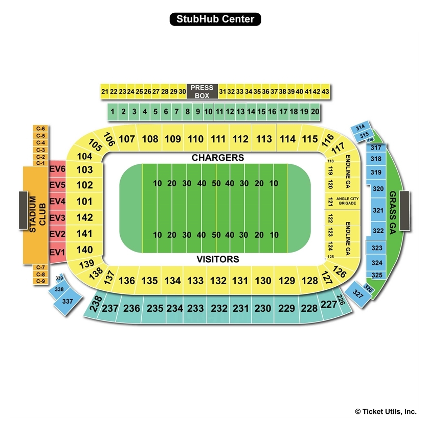 Stubhub Center Carson Ca Seating Chart View