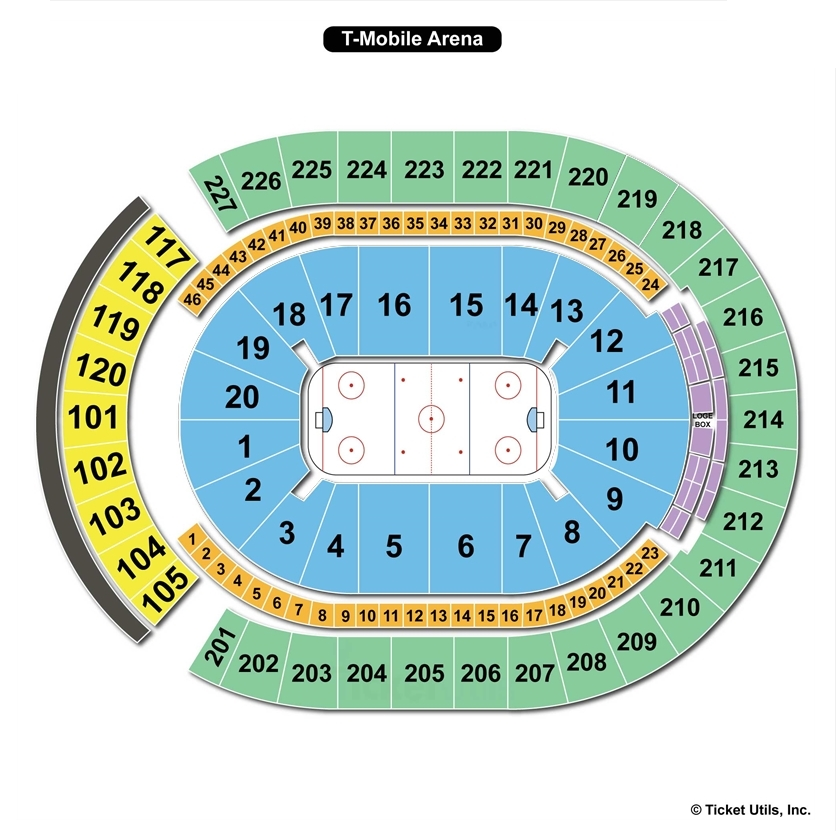 T Mobile Arena Hockey Seating Chart