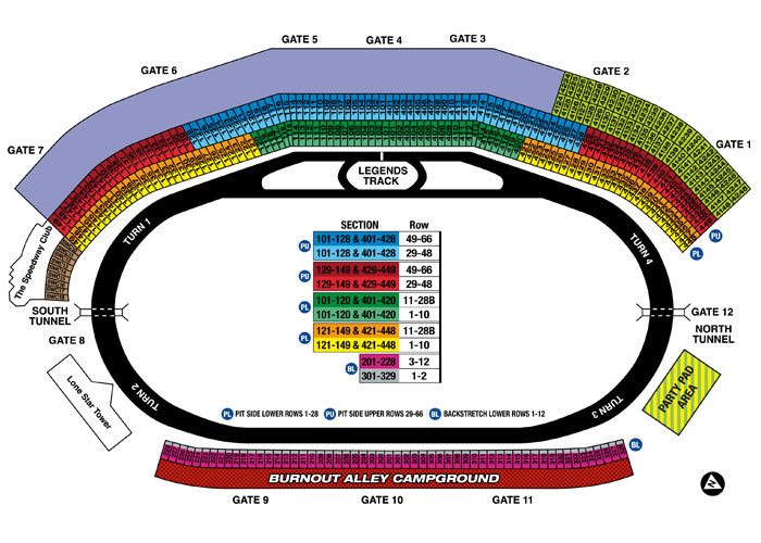 texas motor speedway fort worth tx seating chart view On texas motor speedway seat numbers