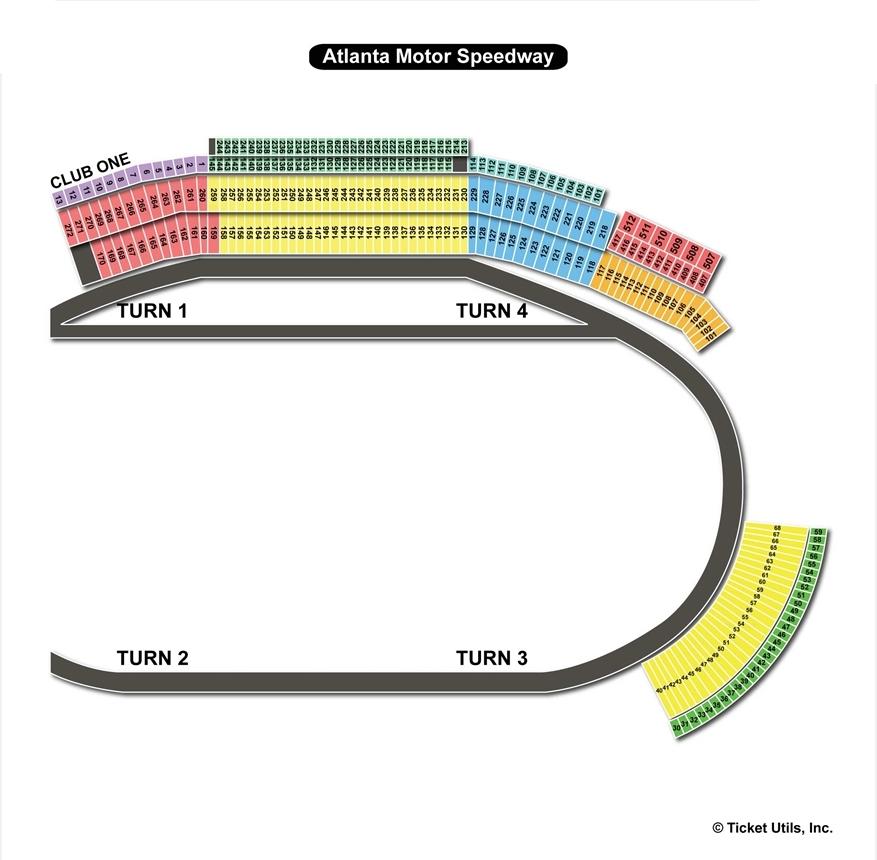 Atlanta Motor Sdway Seating Chart