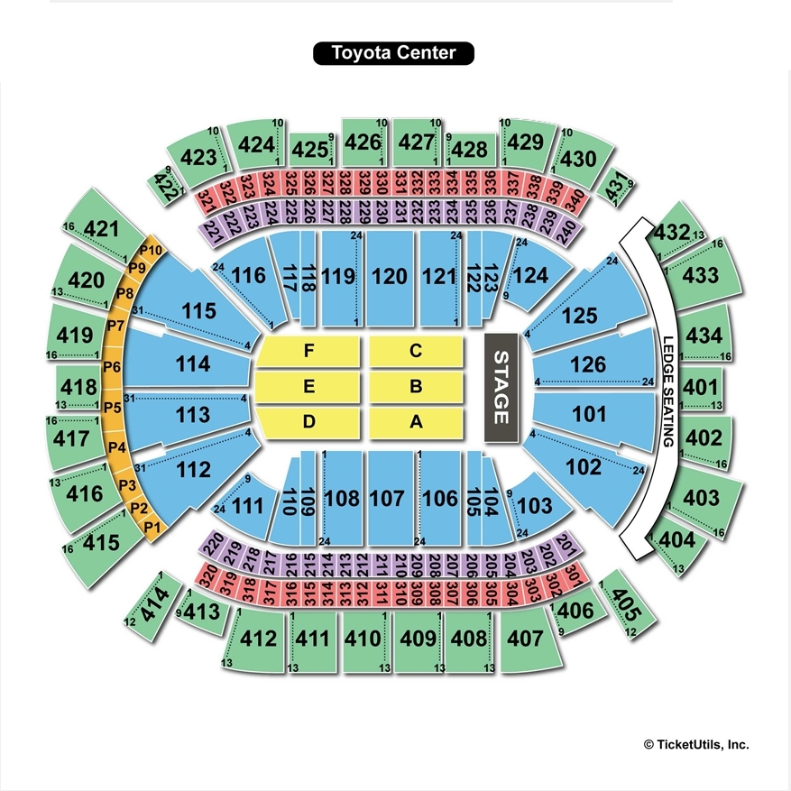 Good Toyota Center End Stage Concert Seating Chart